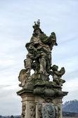 Statue on the Charles Bridge — Stock Photo