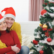 Young couple spending Christmas time together — Stock Photo