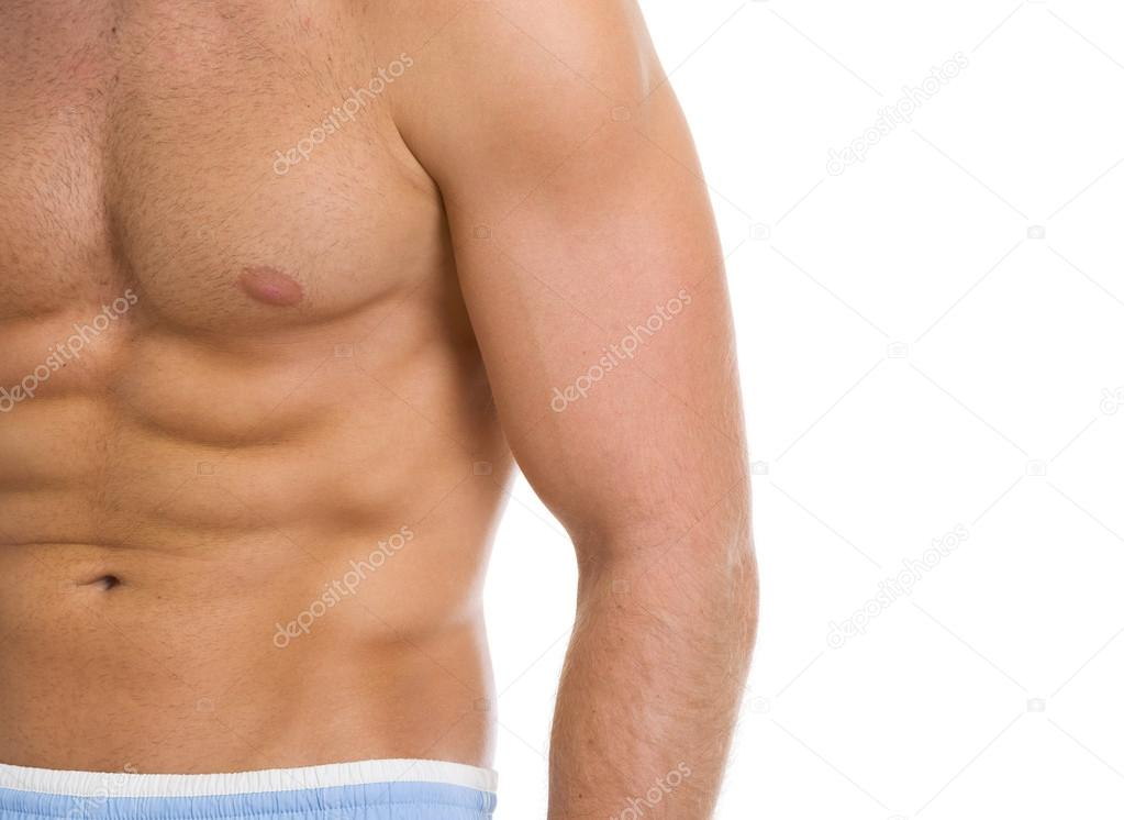 Closeup on abdominal muscles — Stock Photo #13726252