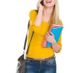 Happy student girl speaking mobile — Stock Photo #21515217