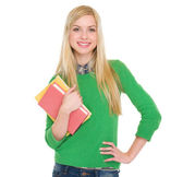 Portrait of smiling student girl — Stock Photo