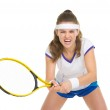 Tennis player during a fierce battle — Stock Photo #23413308