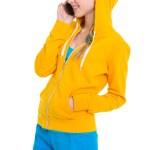 Happy teenager girl talking mobile phone — Stock Photo #25395483