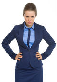 Portrait of angry business woman — Stock Photo