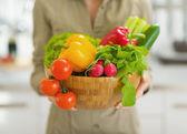 Plate full of vegetables — Stock Photo