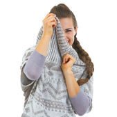 Woman in sweater — Stock Photo