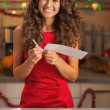 Housewife with letter — Stock Photo