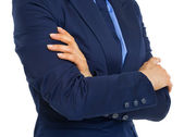Businesswoman with crossed arms — Stock Photo