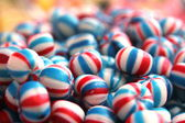 Multi colored hard ball shaped candies for sale — Stok fotoğraf