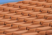 New red rooftop pattern — Stock Photo