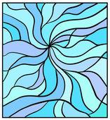 Wavy blue background — Stock Photo