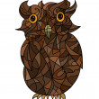 Stock Photo: Decorative stylized owl