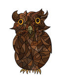Decorative stylized owl — Stock Photo