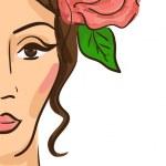 yarım yüz kadın illüstrasyon — Stok fotoğraf