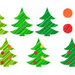Christmas tree and decorations vector set — Stock Photo #14602409