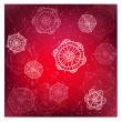 Vinous red vector winter background with snowflakes — Stock Photo