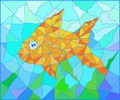 Fish vitrage — Stock Photo