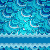 Eps 10 colorful vector background with sea waves — Stock Photo