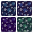 Snowflakes seamless pattern set — Stock Photo