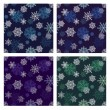 Snowflakes seamless pattern set — Stock Photo #16371977