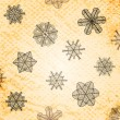 Stock Photo: Vintage snowflakes