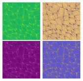 Conjunto de patrones sin fisuras dibujado a mano ondulado artístico vector para ti — Foto de Stock