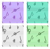 Musical seamless set — Stock Photo