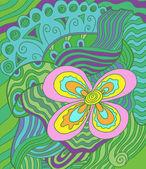 Floral doodle — Stock Photo