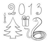 New Year vector set — Stock Photo