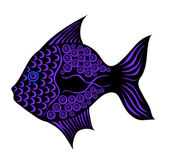 Contrast stylized vector fish. — Stock Photo
