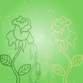 Vector roses background — Stock Photo
