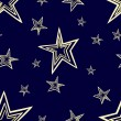 Starry seamless pattern — Stock Photo