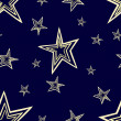 Stock Photo: Starry seamless pattern