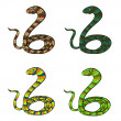 Snakes set — Stock Photo
