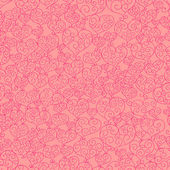 Fancy hearts seamless pattern — Foto Stock