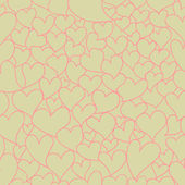 Retro Valentine seamless pattern — 图库照片