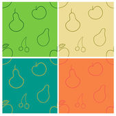 Fruits seamless — Stock Vector