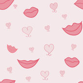 Lips and hearts — Stock Vector