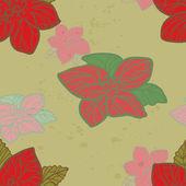 Flower seamless — Stock Vector