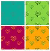 Valentine seamless pattern set — Stock Vector