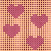 Valentine beadwork design — Stock Vector