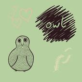 Vector owl card — Stock Vector