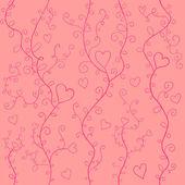Rosy hearts — Stock Vector
