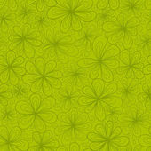 Abstract flowers vector seamless pattern in green tints — Stock Vector