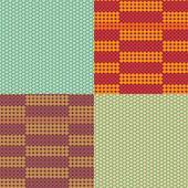 Vector beadwork models seamless pattern set — Stock Vector