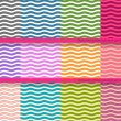 Big set of wavy vector seamless patterns for your design — Stock Vector
