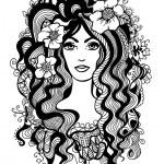 Artistic black and white illustration. — Stock Vector