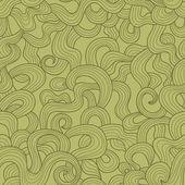 Abstract doodle threads vector seamless pattern. Retro tints. — Stock Vector