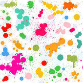 Colorful artistic watercolor splashes vector seamless pattern fo — Stock Vector