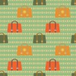 Retro vector seamless pattern — Stock Vector